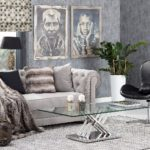 Dekoria.pl, roleta Capri zkolekcji Modern, ława Escada, sofa Chesterfield Classic Velvet Light Grey