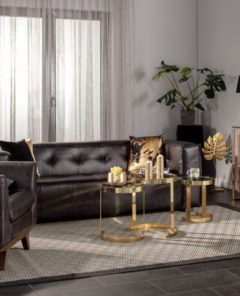 Dekoria.pl, sofa Venito black, fotel Moments black