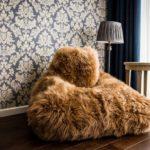 Fotel Keiko Premium znaturalnej skóry owczej