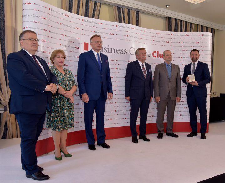 od lewej Minister Leon Dera; Grażyna Majcher-Magdziak, BCC; Marek Goliszewski , prezes BCC, gen. Leon Komornicki, BCC, Zbigniew Żurek, wiceprezes BCC